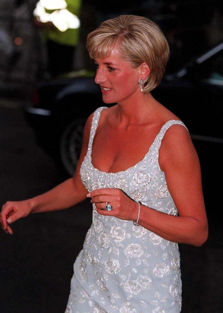 PRINCESS DIANA LEAVING CHRISTIES, LONDON - 1997