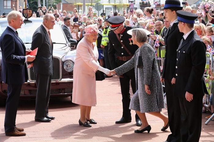 Queen Elizabeth II visit to Liverpool, UK - 22 Jun 2016