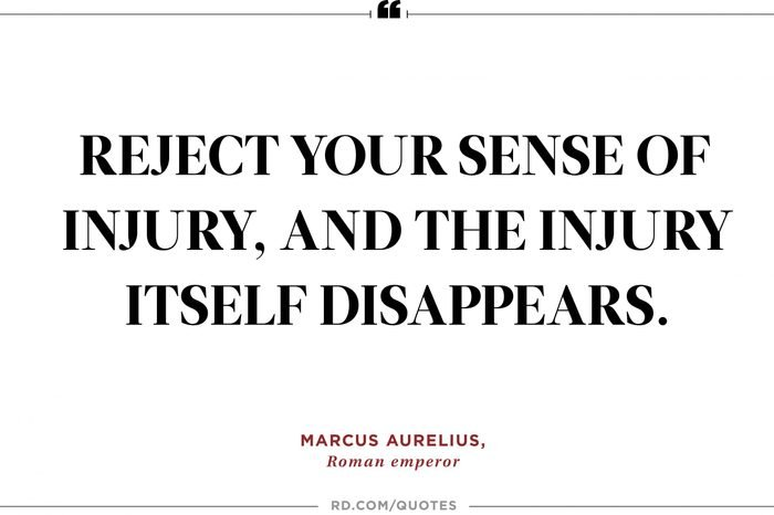 reject your sense of injury