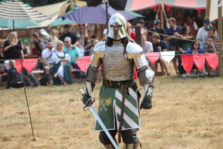 knights in armor at a renaissance fair