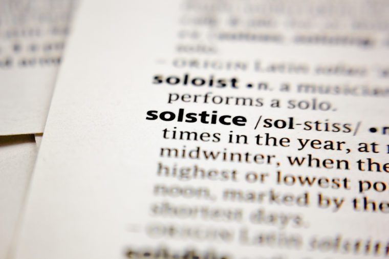 solstice in dictionary