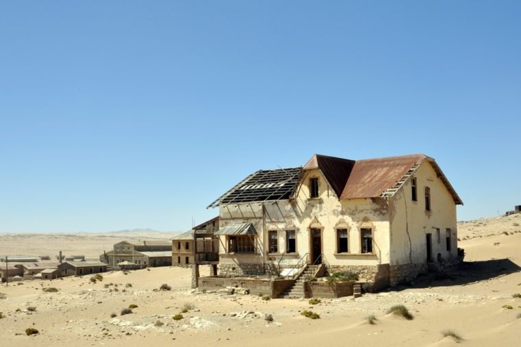 Ghost diamond mining town Kolmanskop near Luederitz, Namibia, Africa