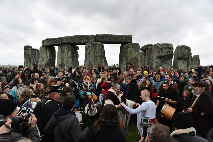 winter solstice celebration at stonehenge