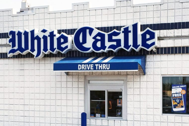 white castle frive thru