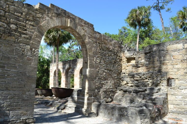 Sugar mill ruin in Florida