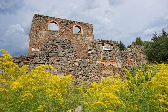 Ruins of Public hospital in Dollersheim, Austria
