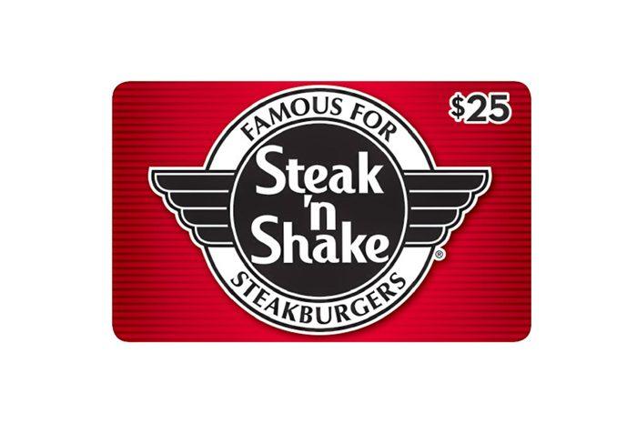 Steak N Shake $50 Value Gift Cards - 2 x $25