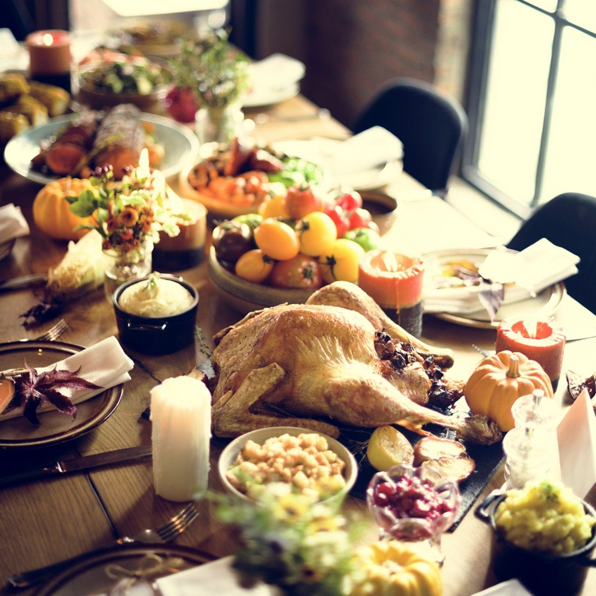 Roasted Turkey Thanksgiving Tradition Celebration Concept