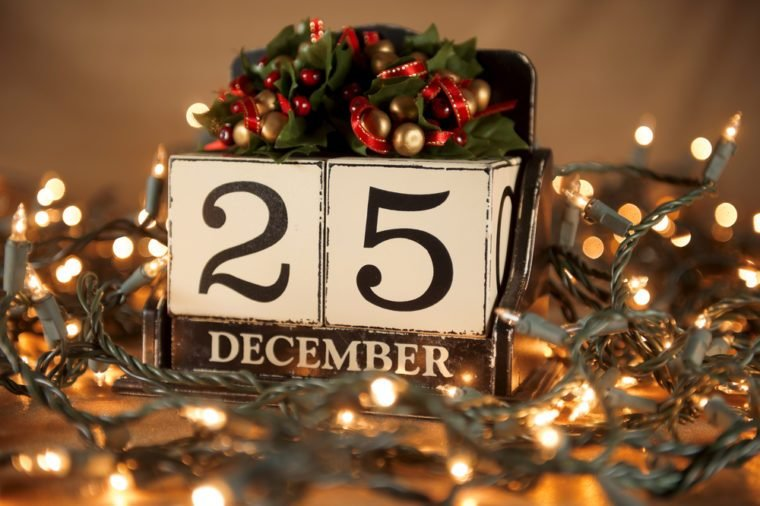 christmas calendar with 25th december on wooden blocks - Why Is Christmas On The 25th
