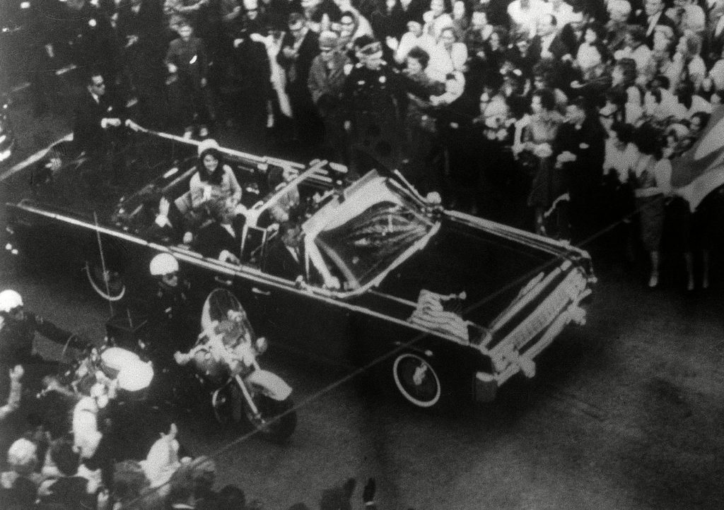 President John F. Kennedy's car in Dallas motorcade