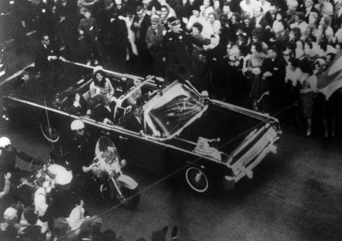 President John F. Kennedy's car in Dallas motorcade