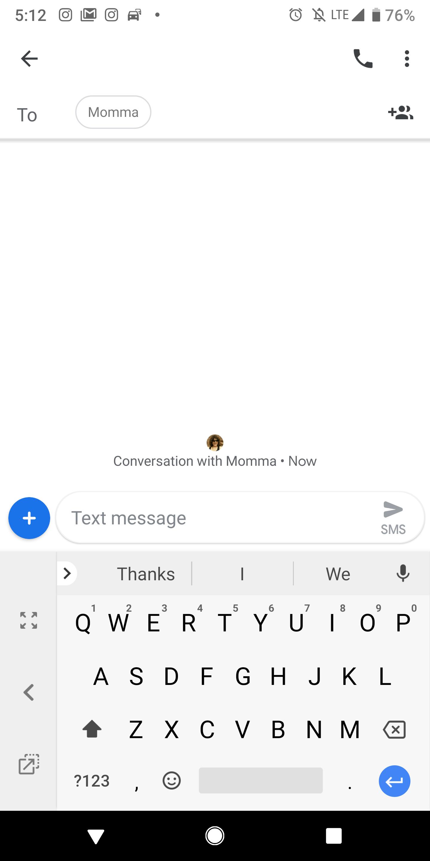 keyboard in one-handed mode