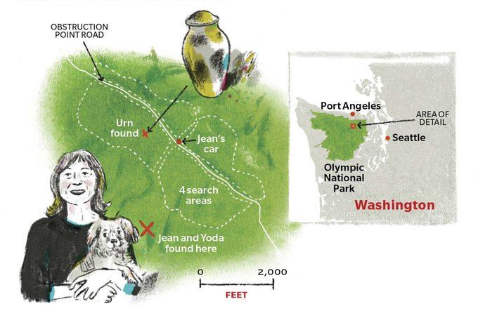 map wasington olympic national park