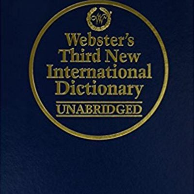 Webster's New International Dictionary