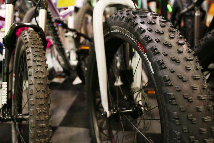 A fat tire bike