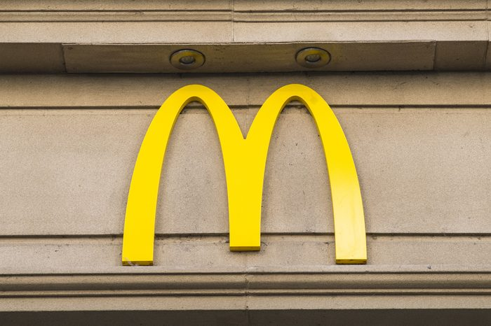 YORK, UK - JULY 18TH 2017: The recognisable McDonalds logo above one of their restaurants in York, UK, on 18th July 2017.