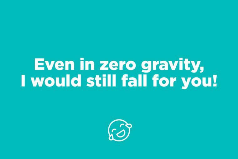 zero gravity pick up line