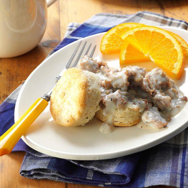 Homemade-Biscuits-Maple-Sausage-Gravy