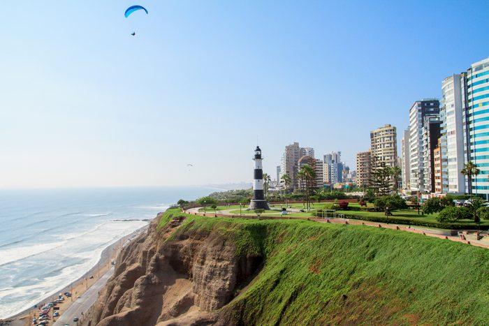 Miraflores Town landscapes in Lima peru