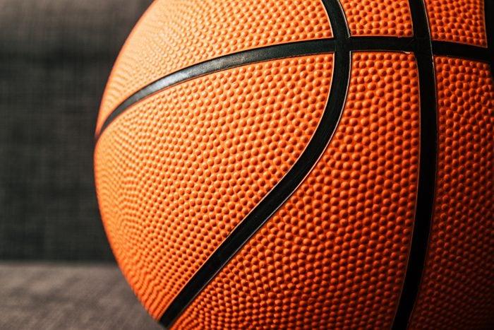 basketball ball close up background