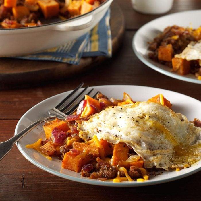 sausage sweet potato hash
