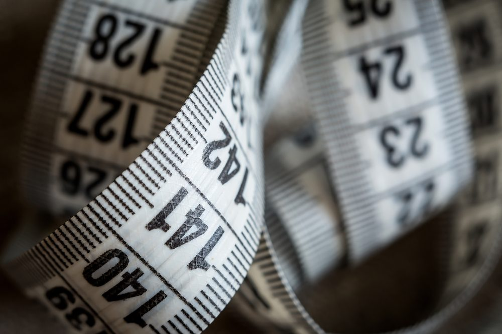 Close up shot of a tape measure