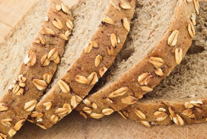 closeup of slices of bread with seeds