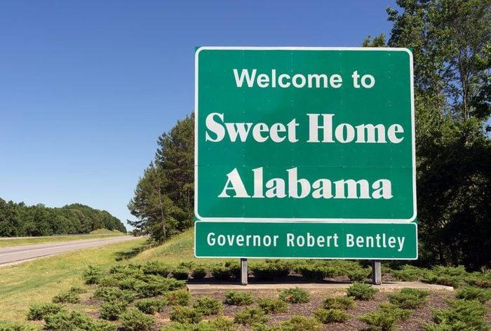 Entering Sweet Home Alabama Road Highway Welcome Sign