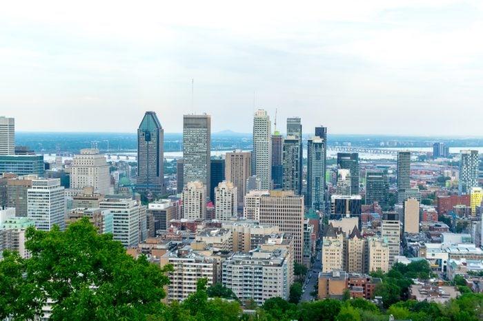 Montreal Skyline in summer, Canada