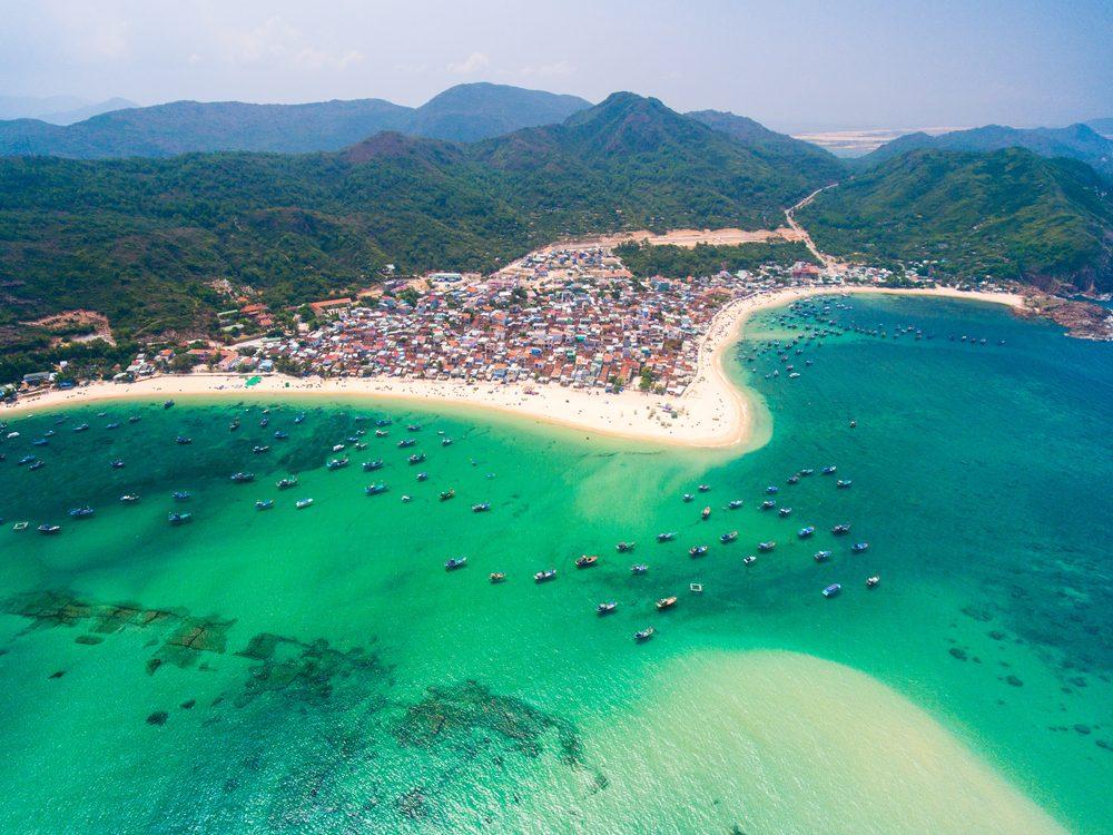A beautiful village on the beach in Qui Nhơn, Vietnam