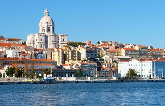 Famous National Pantheon in Lisbon, Portugal (View from Tagus river)