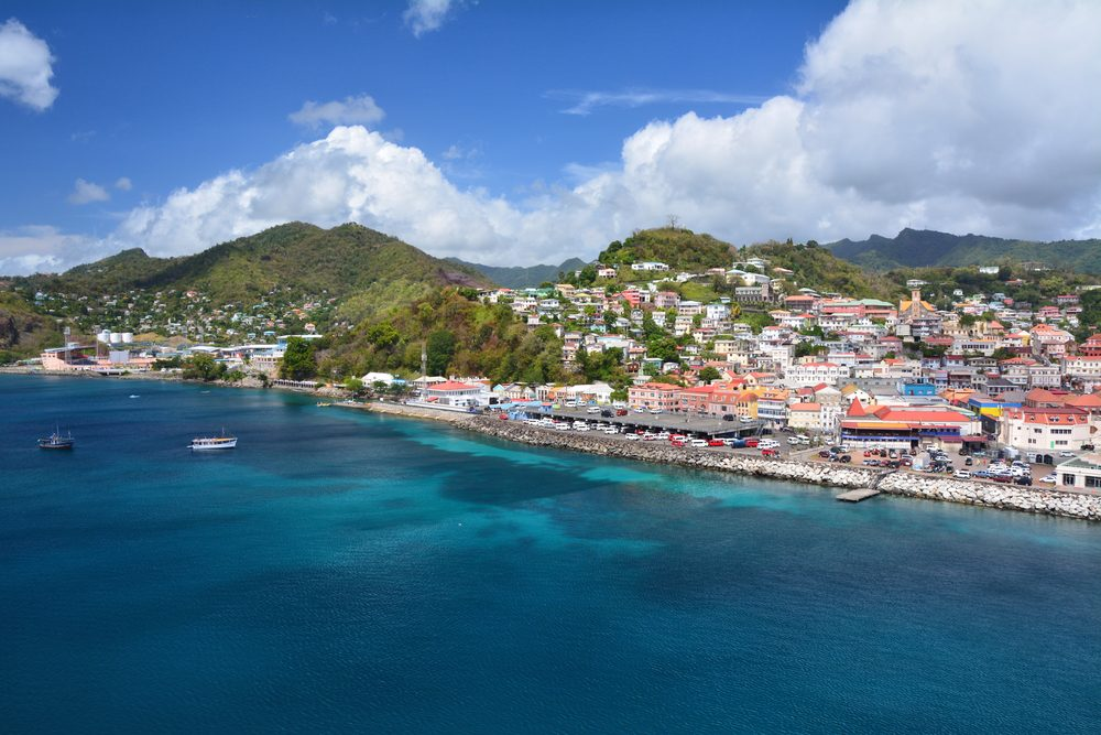 Saint George city port in Grenada, Caribbean