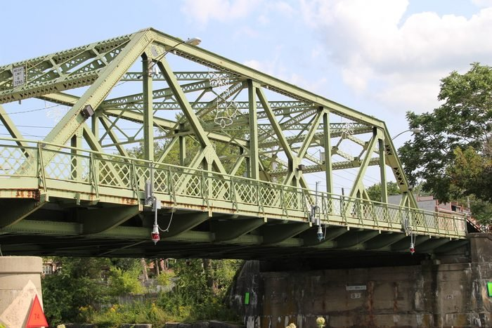 An old metal bridge which cross the Seneca River in Seneca Falls, NY. Also the inspiration for It's a Wonderful Life.
