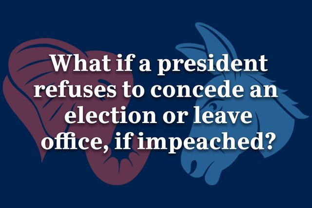 what if a president refuses to concede an election