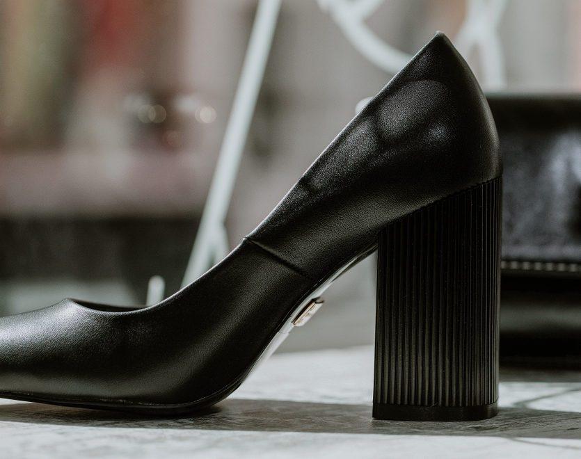Fashionable woman high heel shoes