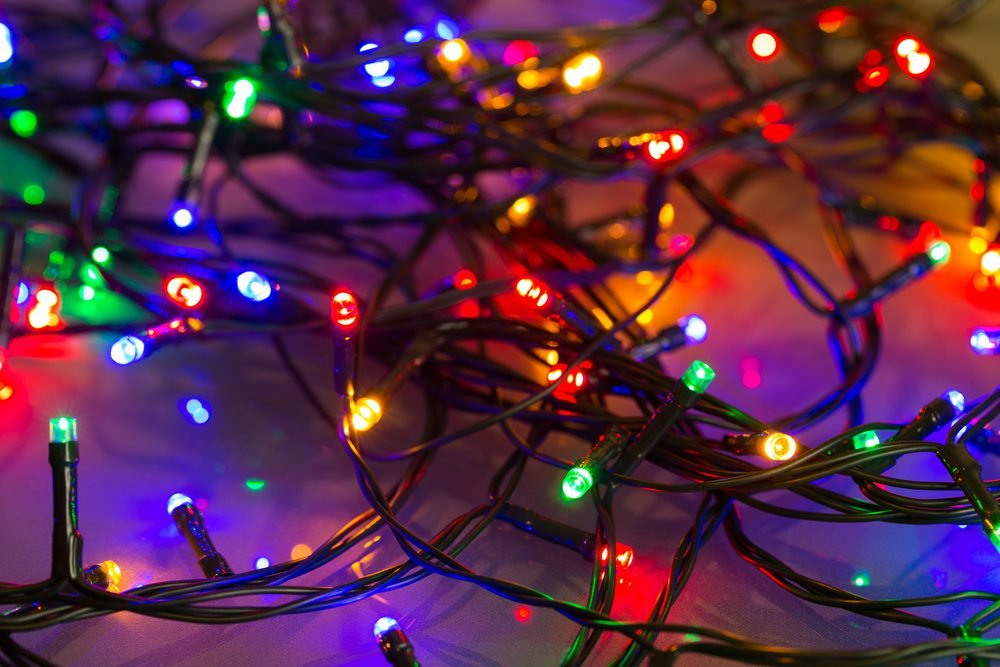 glowing Colorful LED Christmas lights