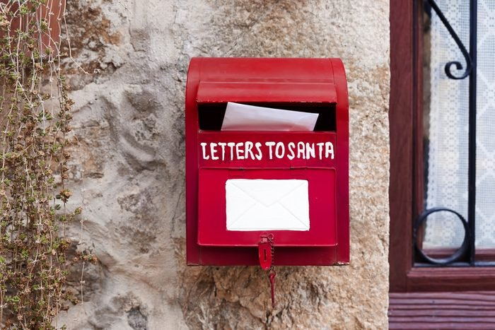 Letters to santa. Mailbox
