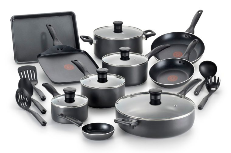 t-fal non stick cookware set