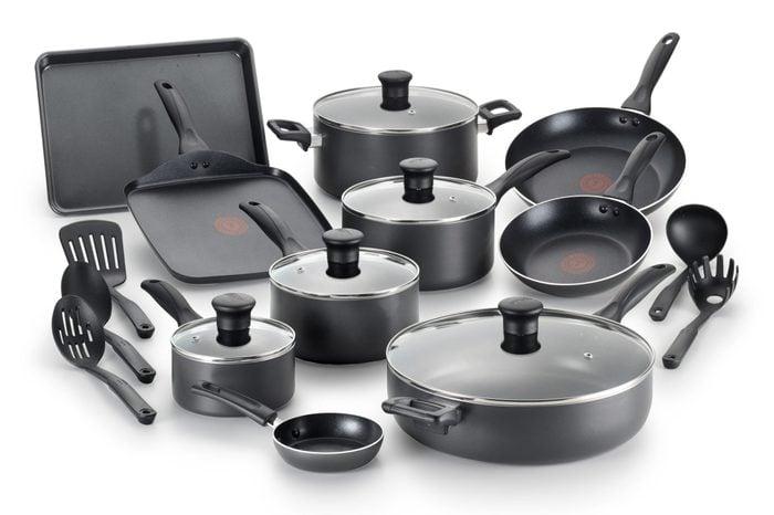 t-fal non stick cookware set