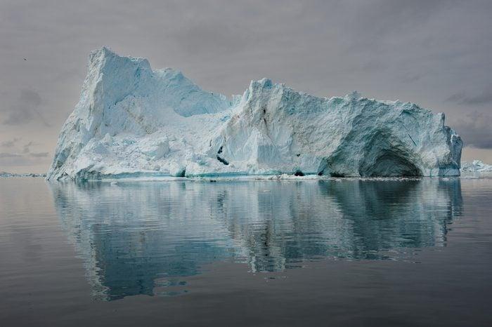 Icebergs in Disko bay, North Greenland