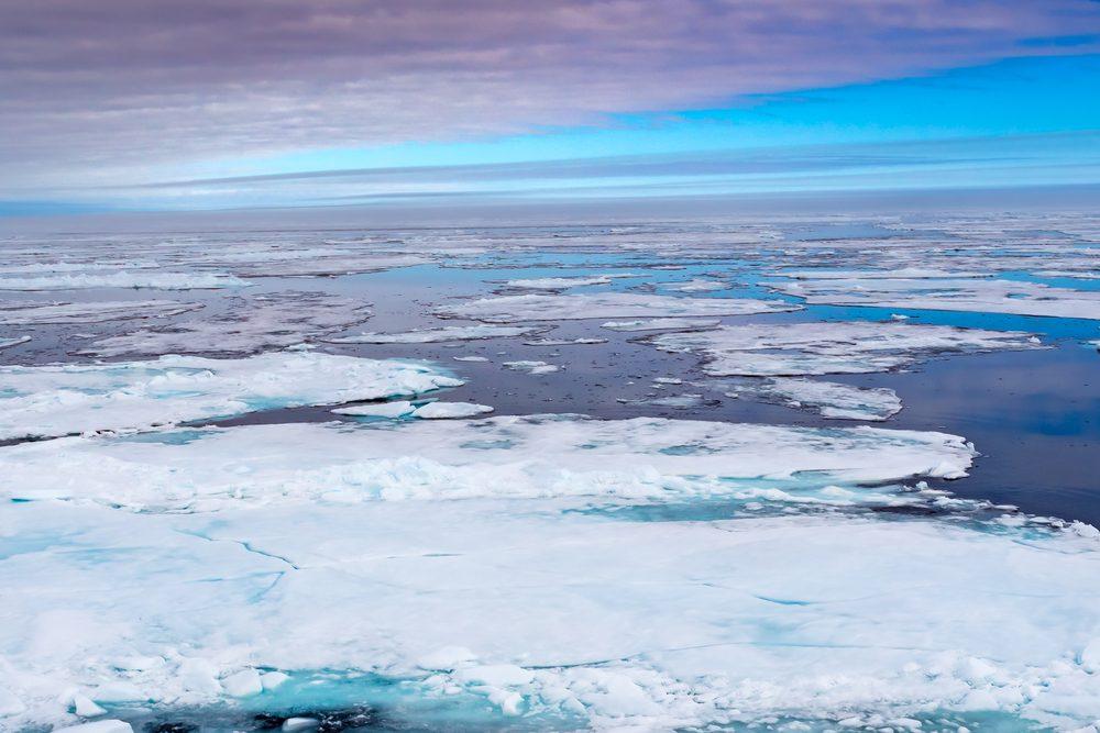 Melting Polar ice near Norway