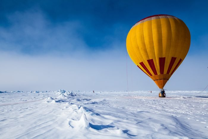 A fire balloon in North Pole