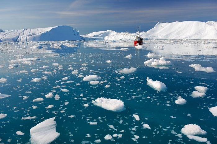 Icebergs in Disko Bay Greenland