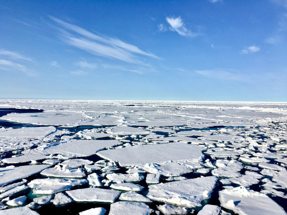 Sea ice at the North Pole