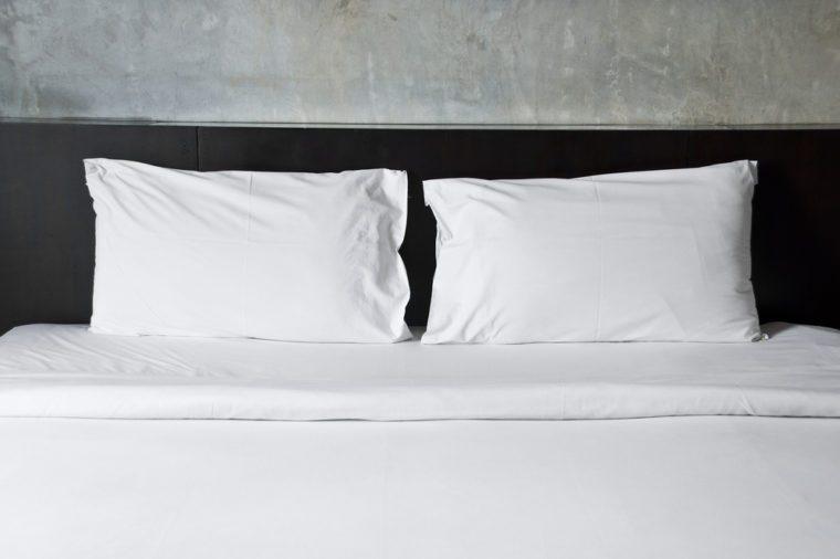 Empty bed.