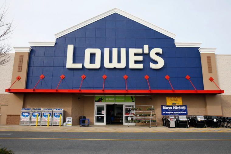 A Lowe's store in Philadelphia