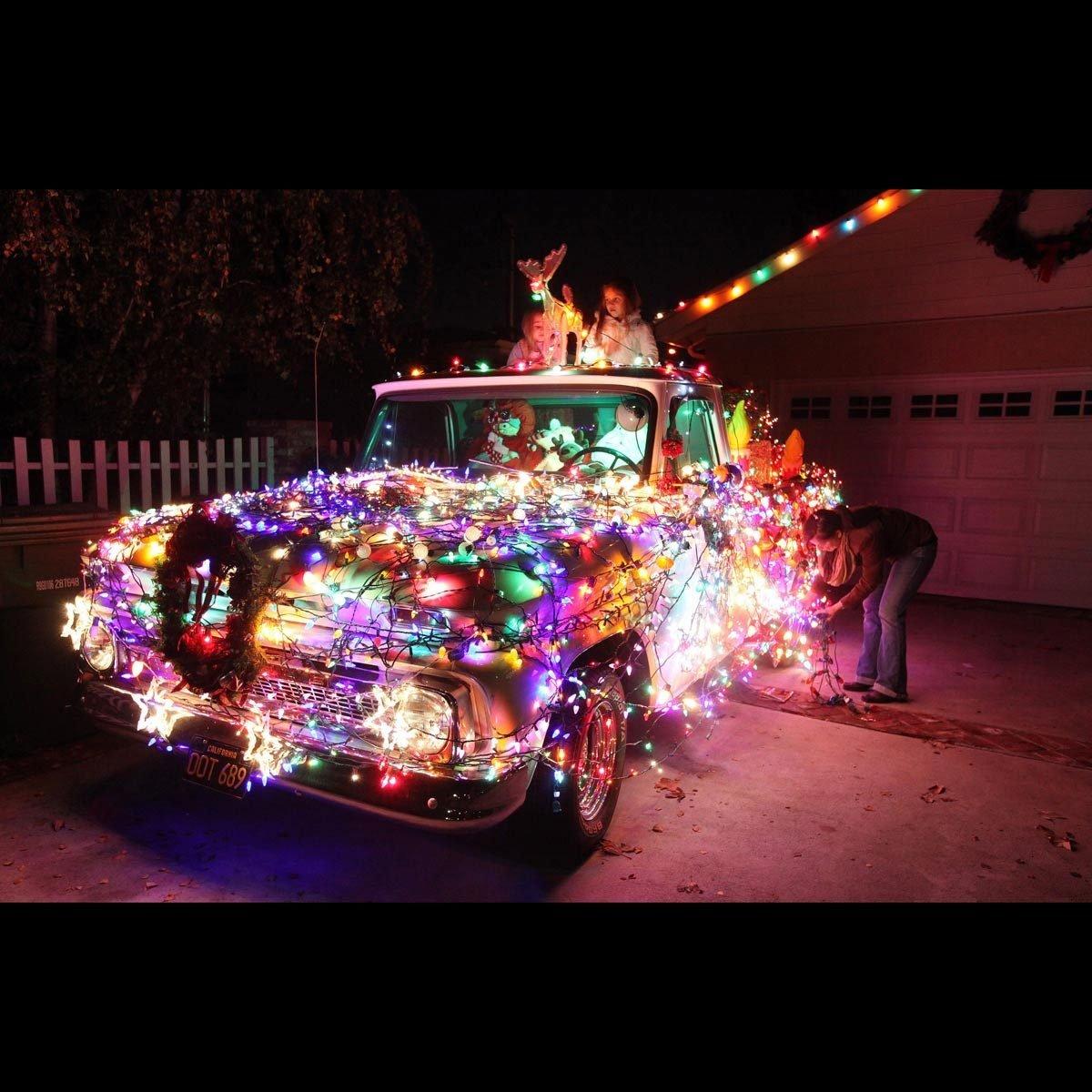 Christmas lights tree