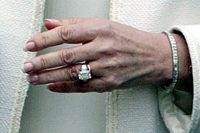 CORNWALL Camilla the Duchess of Cornwall, wears her wedding ring made of welsh gold below her engagement ring as she leaves the Guildhall in Windsor