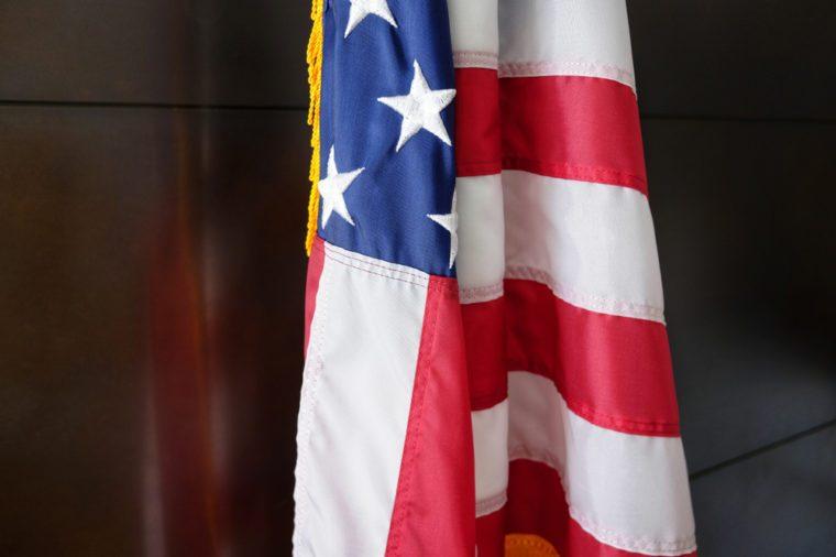 American flag inside