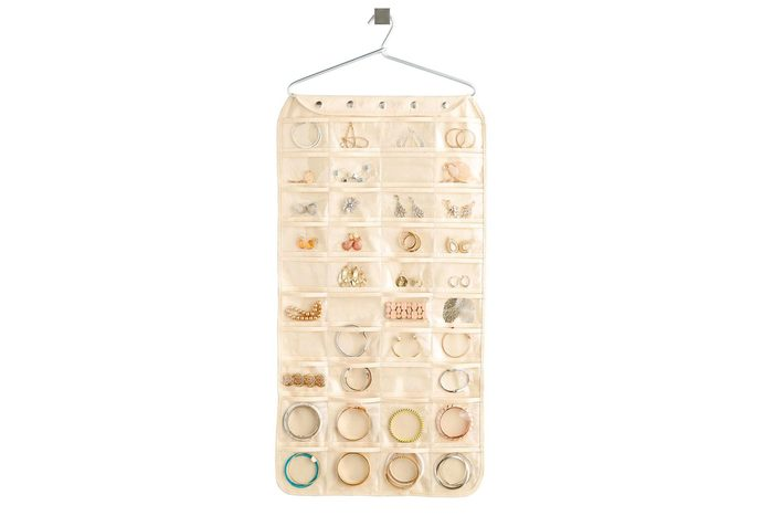 80 Pocket Hanging Jewelry Organizer